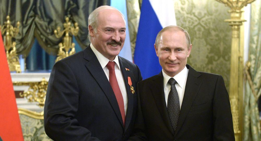 Presidenti della Russia e Bielorussia Vladimir Putin e Alexander Lukashenko