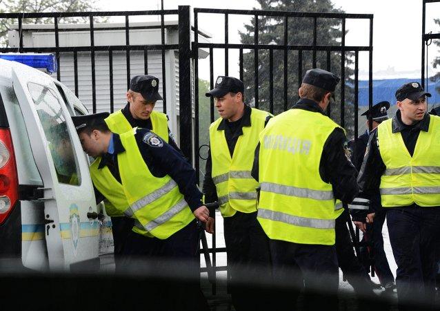La polizia ucraina