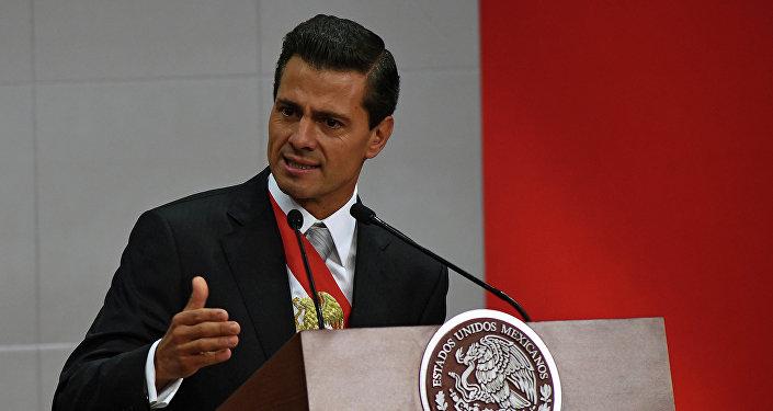 Il presidente messicano Enrique Pena Nieto.