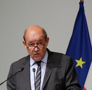 Il ministro degli Esteri francese Jean-Yves Le Drian