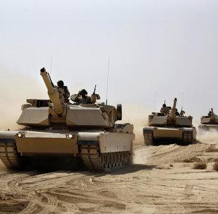 Carri armati USA Abrams dell'esercito dell'Iraq