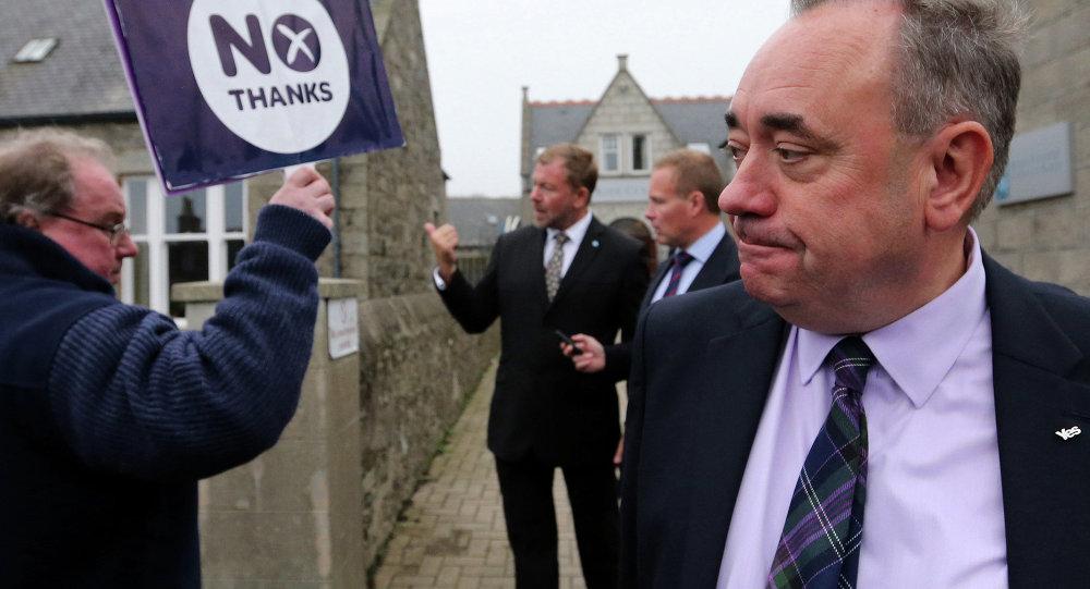 Alex Salmond, ex leader del Partito Nazionale Scozzese