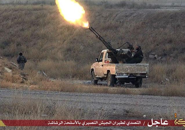 Postazione di ISIS in Siria