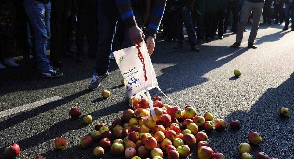 Proteste contro le sanzioni in Europa (foto d'archivio)