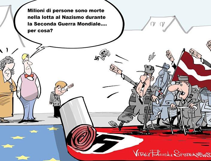 Manifestazione di ex legionari SS e neonazisti d'Europa