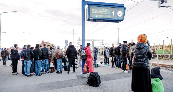 Profughi in Finlandia (foto d'archivio)