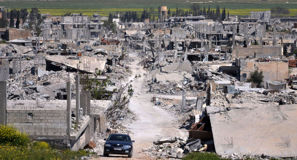 Siria. La citta di Cobani distrutta
