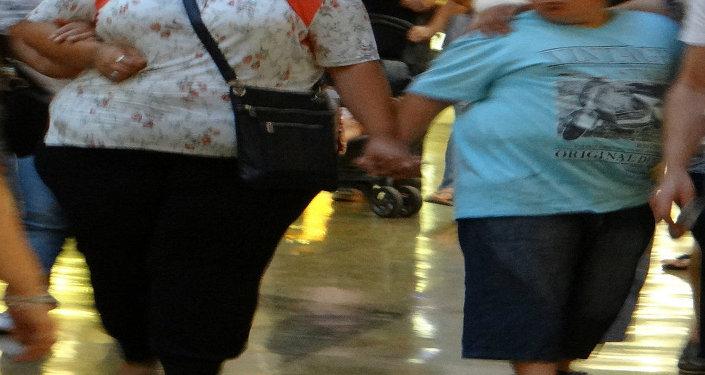 Mamma e figlio obesi