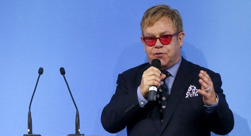 British singer Elton John delivers a speech at the 12th Yalta European Strategy Annual Meeting in Kiev, Ukraine, September 12, 2015
