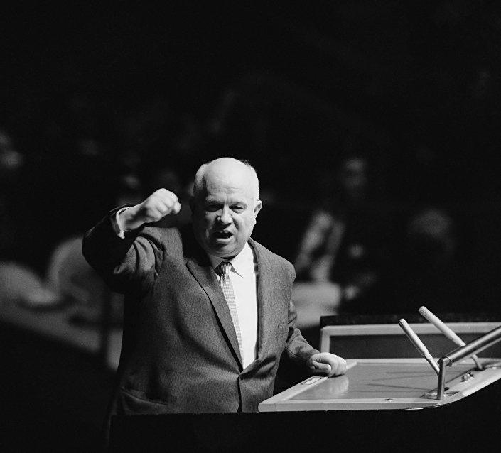 L'intervento di Nikita Khruschev il 13 ottobre 1960 a New York