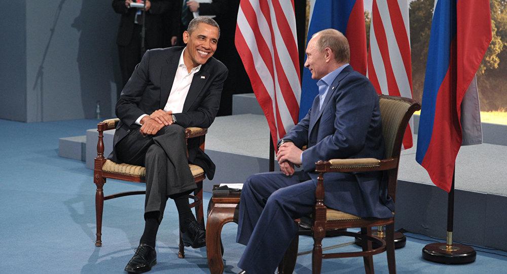 Russian President Vladimir Putin, right, and U.S. President Barack Obama