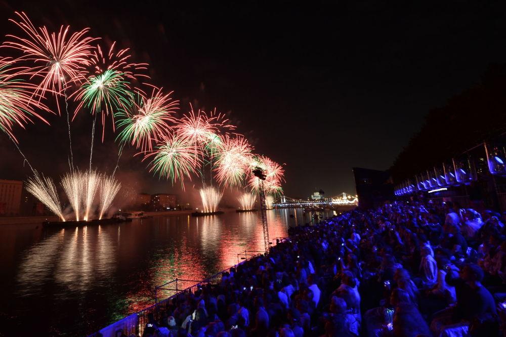 La cerimonia dell'apertura del Festival internazionale di Mosca Cerchio di luce.