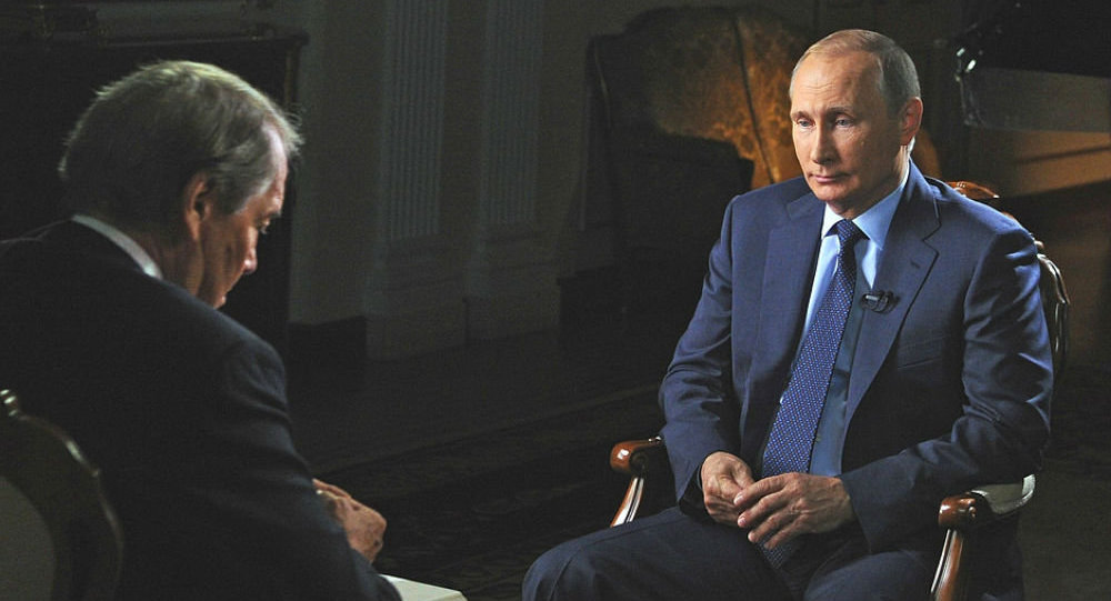 Vladimir Putin gives interview to CBS channel