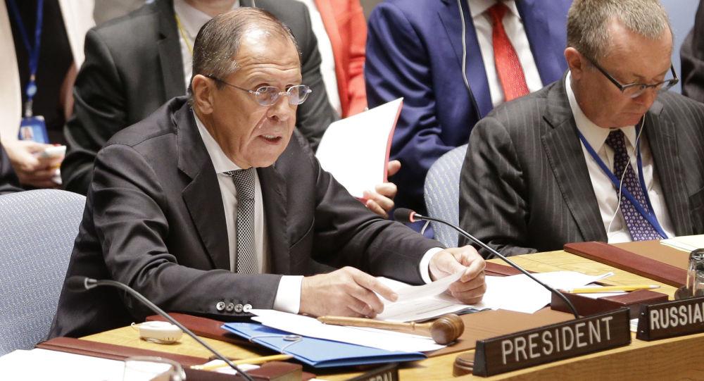 Sergey Lavrov al Consiglio di Sicurezza dell'ONU