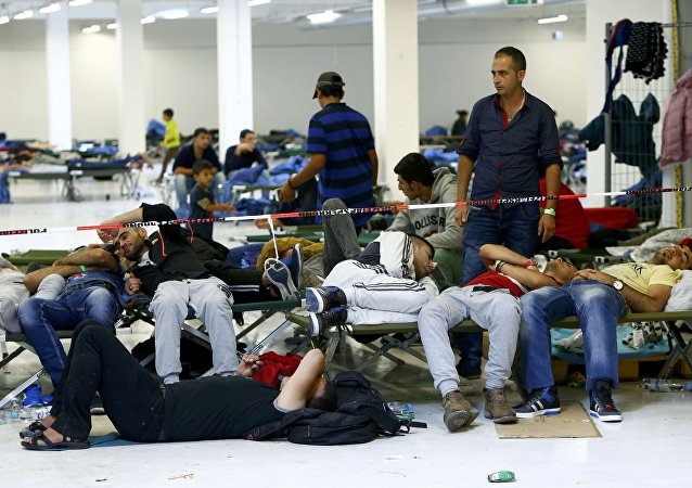 Migranti in un centro di accoglienza in Germania