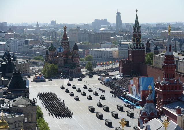 Parata militare in Piazza Rossa di Mosca