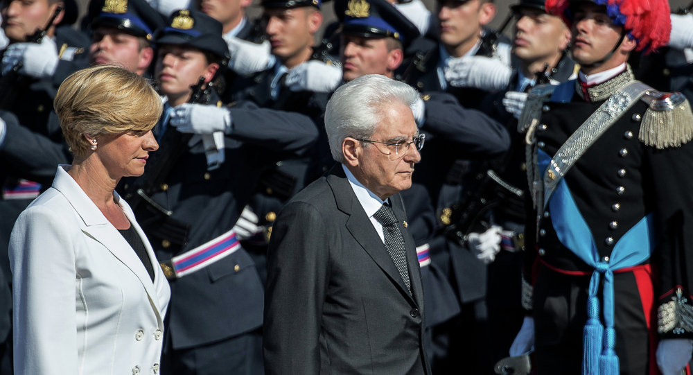 Il presidente italiano Sergio Mattarella