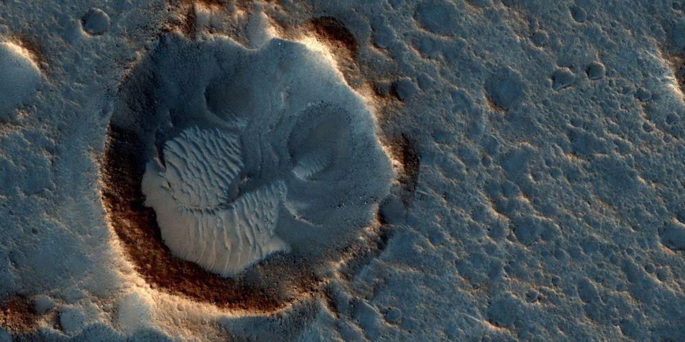 Una foto della Acidalia Planitia su Marte, dove si svolge la storia narrata nel film Sopravvissuto - The Martian.