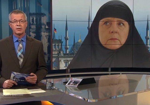 Angela Merkel in hijab
