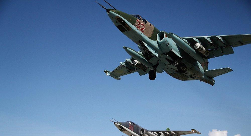 Caccia russi in Siria (foto esclusiva di Sputnik)