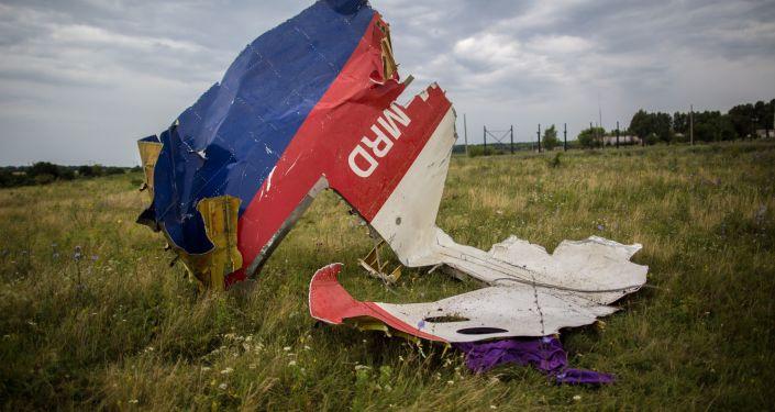 Resti del Boeing malese nel Donbass (foto d'archivio)