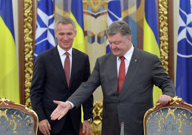 Incontro tra segretario NATO Stoltenberg e presidente ucraino Poroshenko (foto d'archivio)
