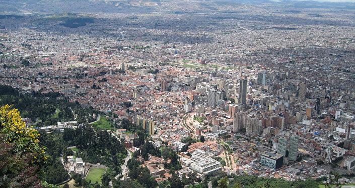 Il panorama di Santa Fé de Bogotá.
