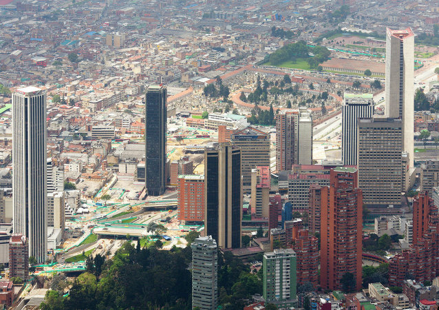 Overview of Bogota, Colombia