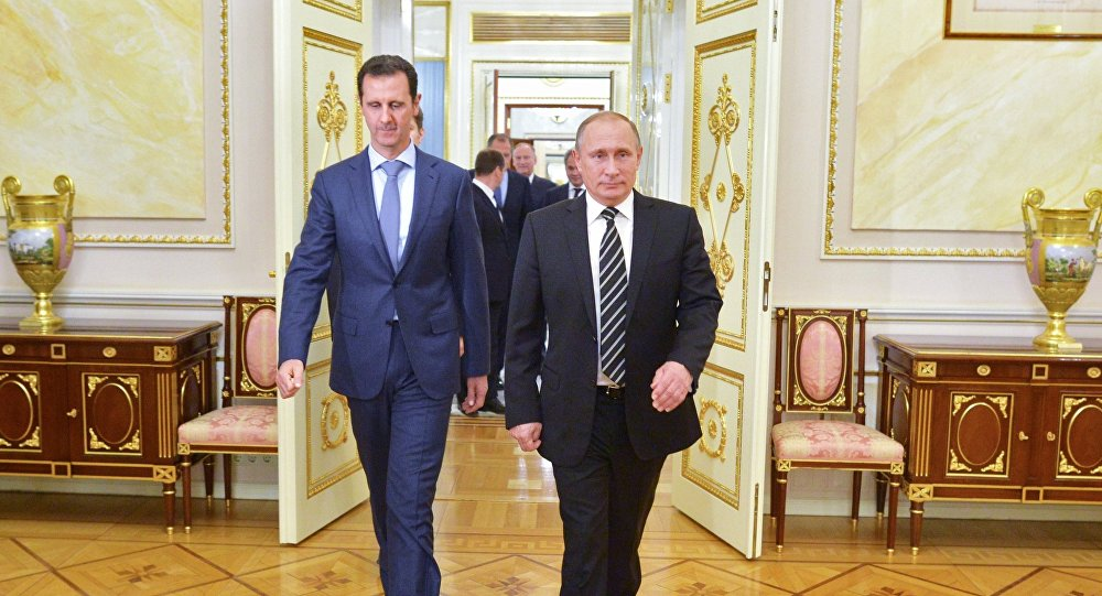 Vladimir Putin e Bashar Assad al Cremlino (foto d'archivio)