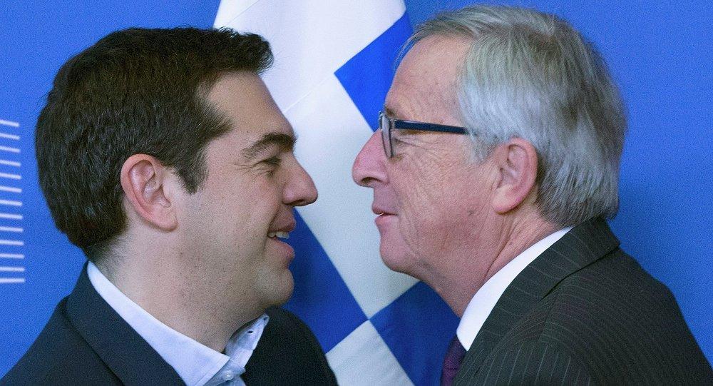 Il Presidente della Comissione Europea Jean-Claude Juncker contro il  primo ministro greco Alexis Tsipras