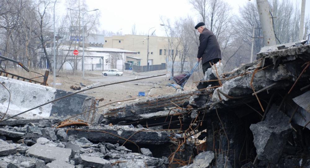 Bombardamento a Donetsk (foto d'archivio)