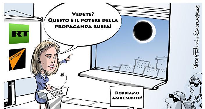 Federica Mogherini, caricatura