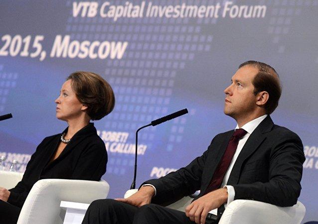 Il ministro dell'Industria russo Denis Manturov