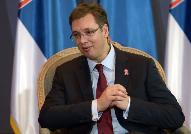 Primo ministro della Serbia Aleksandar Vucic