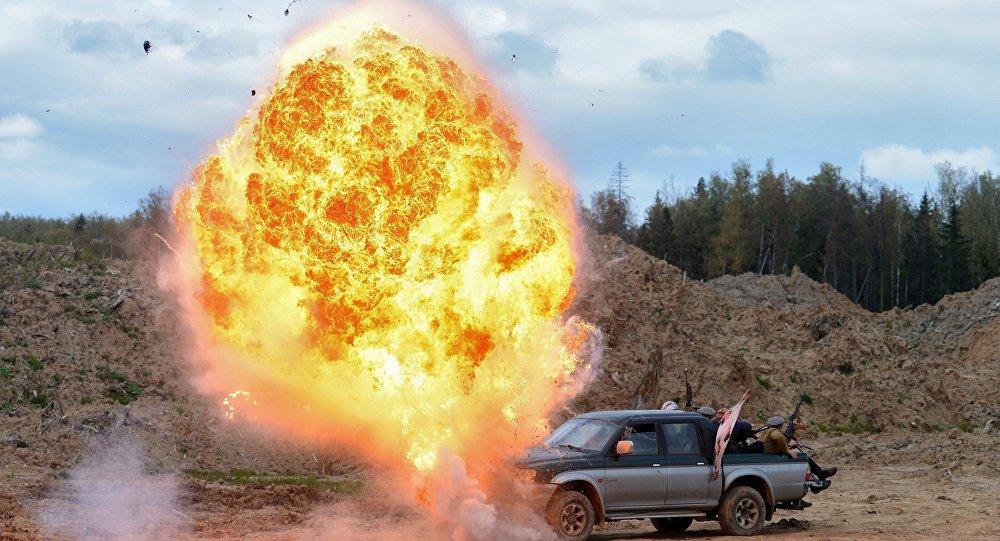 Esplosione in Afghanistan (ricostruzione)