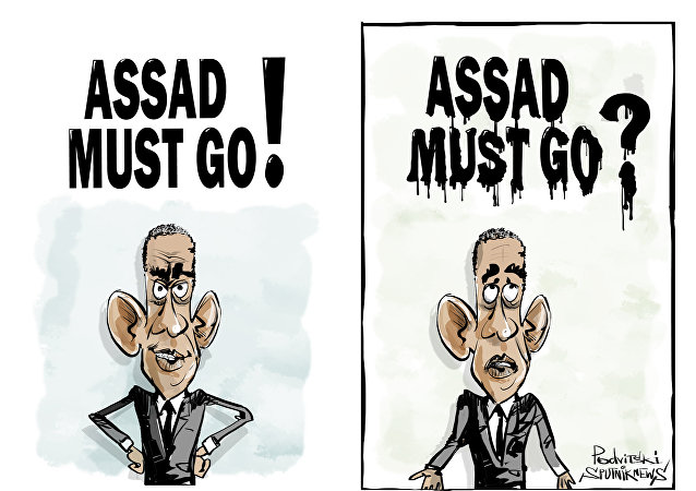 Assad must go! Assad must go?