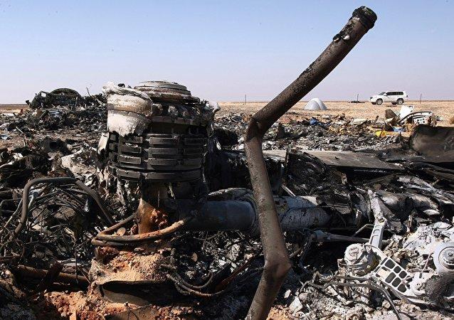 Rottami Airbus A321 luogo in Egitto