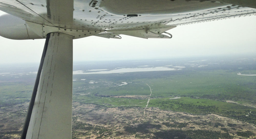 Il panorama a volo d'uccello sul Sudan del Sud