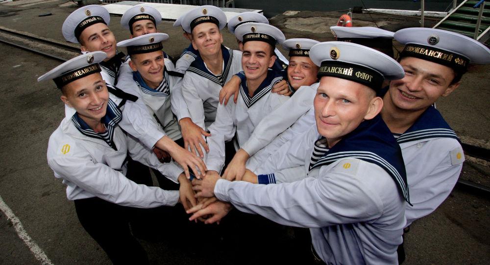 Marinai russi della flotta del Nord e dell'Oceano Pacifico