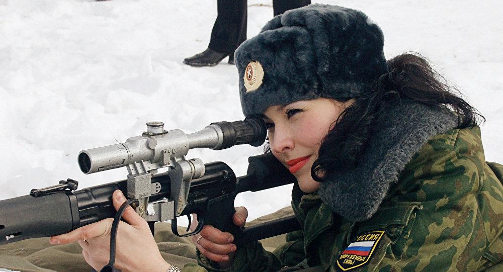 Donna soldato russa