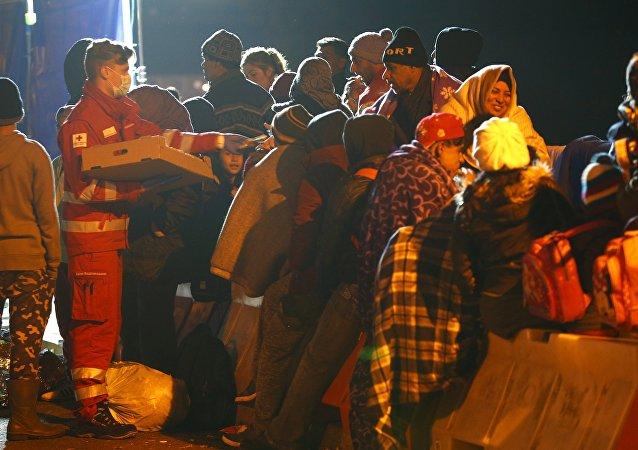 Migranti al confine austriaco-tedesco (foto d'archivio)
