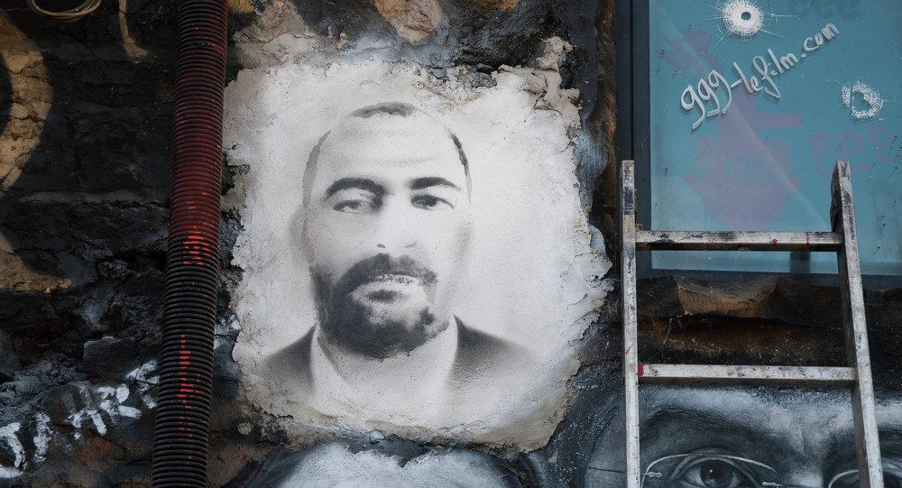 Un ritratto di Abu Bakr al-Baghdadi