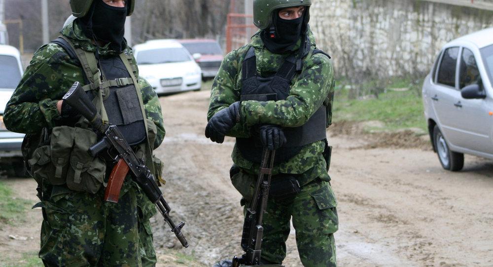 Forze speciali russe in Caucaso (foto d'archivio)