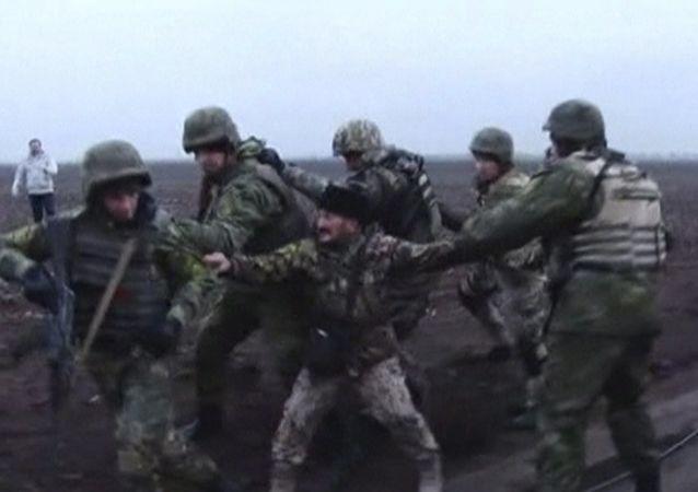 Attivisti del Blocco Energetico della Crimea
