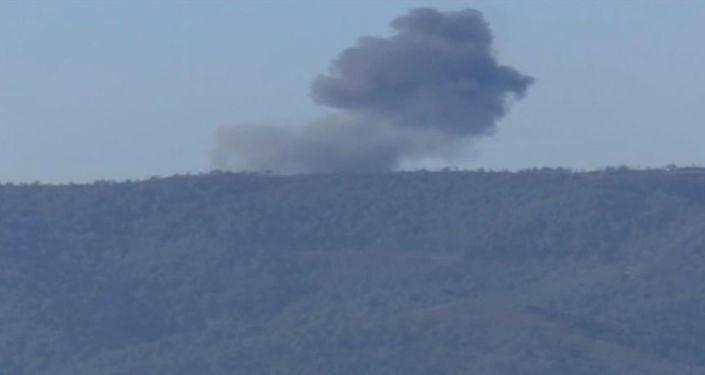 Schianto bombardiere russo Su-24 al confine turco-siriano