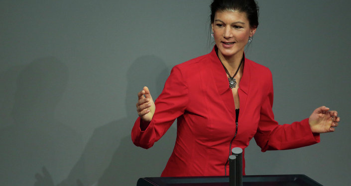 Sahra Wagenknecht, deputata tedesca del partito Linke