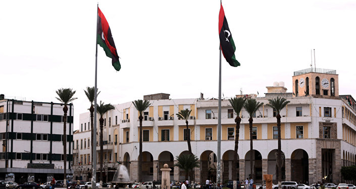 La piazza Martyrs a Tripoli, Libia