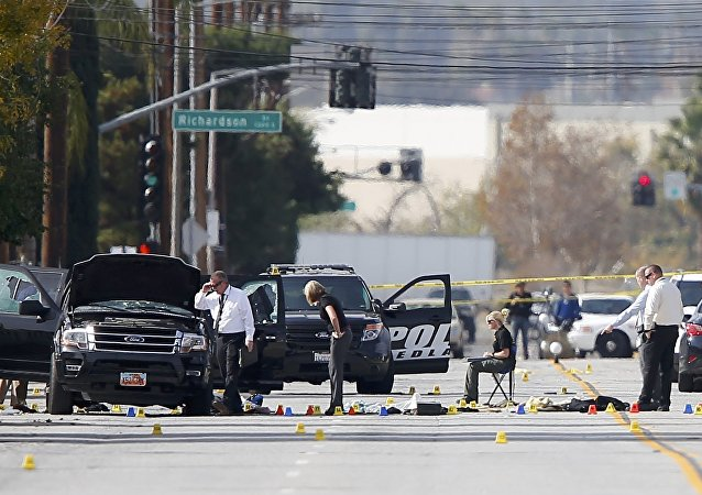 Luogo della strage a San Bernardino