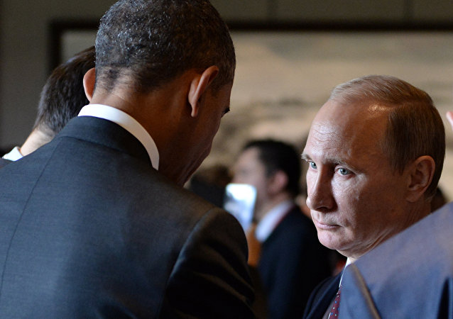 Vladimir Putin e Barack Obama durante la sessione di Asia-Pacific Economic Cooperation (APEC) Summit   a Pechino
