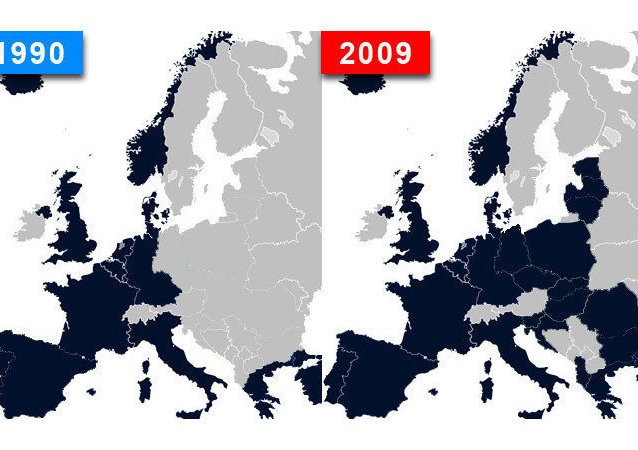 L'espansione della Nato dal 1990 al 2009